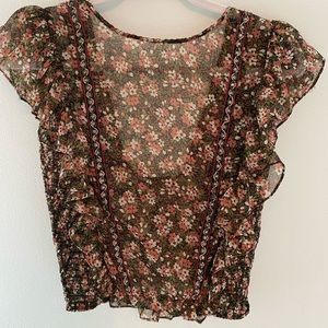 Zara Delicate Floral Top with Beading